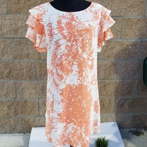 Rachel Zoe Womens Shoft Orange Whote Floral Dress